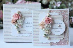Kartka z pudełkiem - ślub kwiaty 5