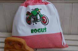 Motocyklista - worek na kapcie/strój