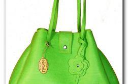 Nowos!! Elegancka, gustowna torba zielona- neonowa