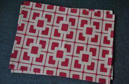 4 podkładki pod talerze - różowo-kremowa mozaika