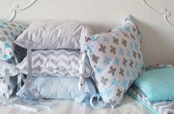Piękny zestaw do łóżeczka patchwork