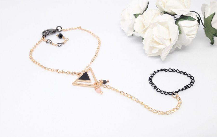 Bransoletka na palec z kamieniami - Biżuteria na prezent ręczne wykonanie dla żony, narzeczonej, dziewczyny, kobiety, mamy, córki, siostry, przyjaciółki