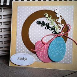 Kartka na Wielkanoc Alleluja ręczne robiona