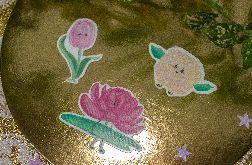 Zestaw - Naklejki Kwiaty