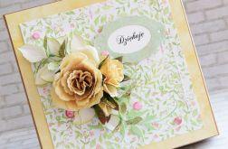 Dziękuję - kwiatowe pudełeczko