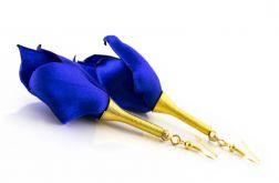 Kolczyki Silk szafir