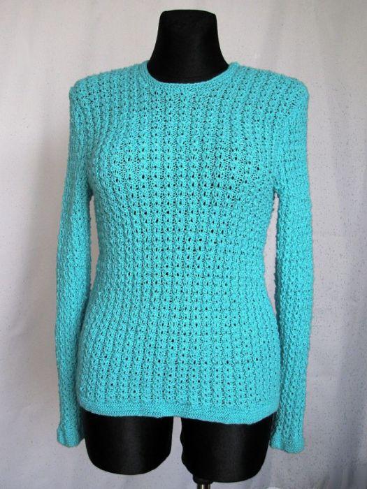 Sweter w kolorze berylu - morska woda
