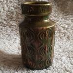 Złocony wazon na kwiaty - Ceramiczny wazon
