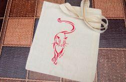 torba kot ręcznie malowana