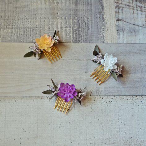 Grzebyk złoty z eukaliptusem