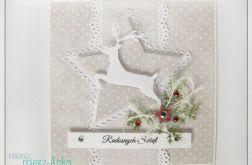 Kartka świąteczna z reniferem 2
