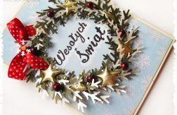 Kartka świąteczna z wieńcem