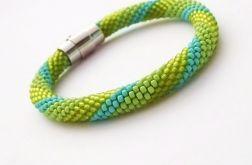 Bransoletka wąż zielono-turkusowa2