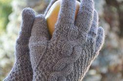 Rękawiczki pięciopalczaste w kolorze szarym