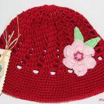 Buraczkowa czapeczka