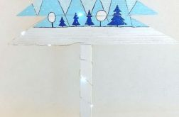 Drewniana choinka -Niebieskie choinki -20LED