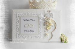 Kartka ślubna w bieli