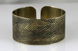 Mosiężna bransoleta - wężowa