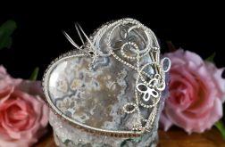 Srebrny wisior z Agatem Crazy Lace