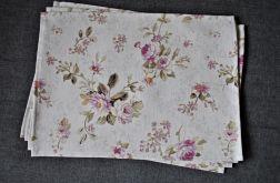 4 podkładki pod talerze - pastelowa róża