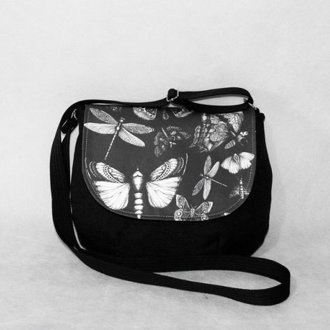 Torebka listonoszka motyle,ważki