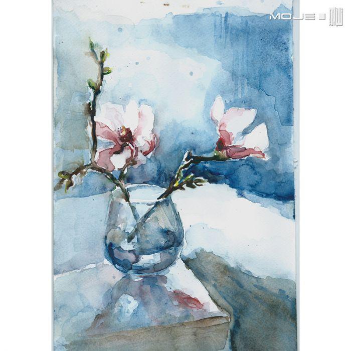 Wiosenne kwiaty w wazonie - obrazek z kwiatami