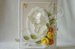 Srebrzysta z żółtym na ślub
