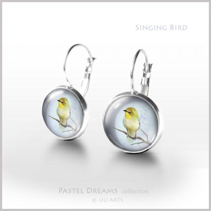 Kolczyki - Śpiewający ptaszek - bigle angielskie