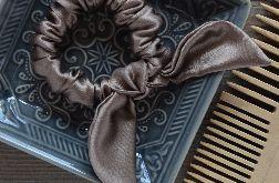 Gumka scrunchie frotka jedwabna CAPPUCINO