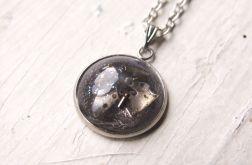 Naszyjnik steampunk, srebrny, trybiki