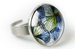Blue spring pierścionek z ilustracją