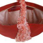 SwS TOREBKI Czerwona torebka półkole - Torba wewnątrz - kieszeń mniejsza na suwak