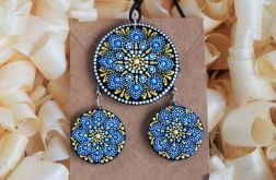 Komplet biżuterii błękitne mandale