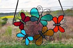 Zawieszka Kolorowe motylki Tiffany