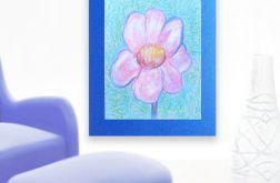 Rysunek kwiat granatowym tle nr 7 szkic
