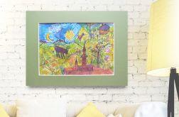 Bajka -  kolorowa akwarela do pokoju