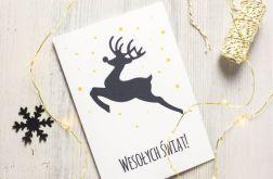 Kartka świąteczna styl SKANDYNAWSKI renifer 6