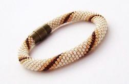 Bransoletka wąż beżowo-brązowa1