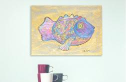 Kolorowa ryba rysunek ręcznie wykonany