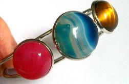 Kolorowa bransoleta z kamieniami, uniwersalna