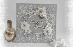 Skrząca kartka w szarości i bieli