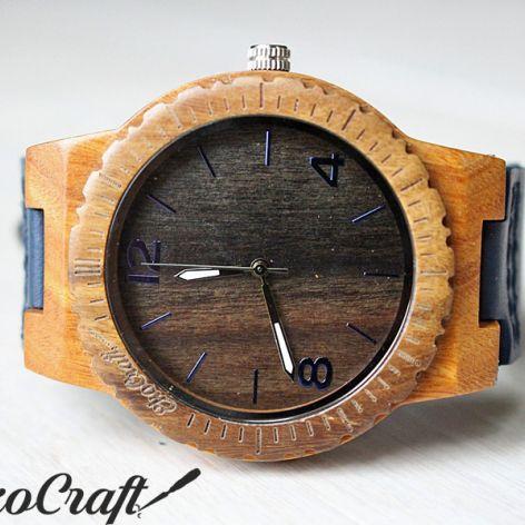 Drewniany zegarek EBONY FALCON