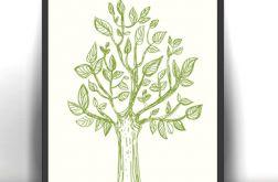 21x30 cm Drzewko plakat dekoracyjny