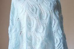 Baby blue ażurowa chusta