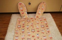 Poszewka na poduszkę, Jasia, dekoracyjna z uszkami, 100% bawełna, handmade