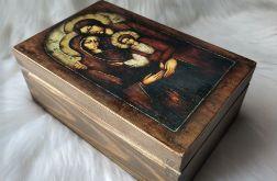 mała szkatułka - ikona Św. Rodzina
