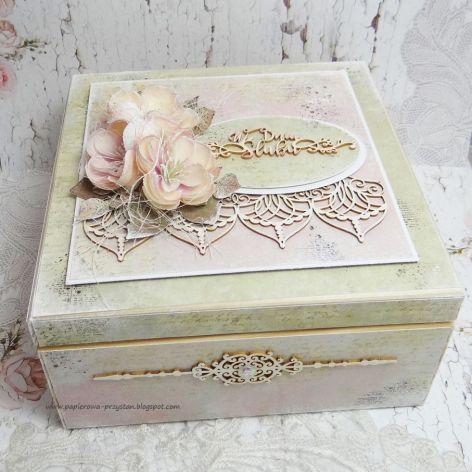 Pudełko ślubne z przegródkami