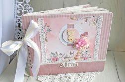 Album dla dziewczynki Vintage z misiem, róż