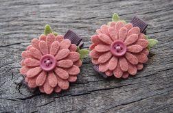 Spinki do włosów kwiatki DAISY GRAPEFRUIT