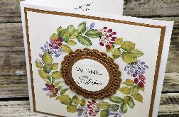Kartka ślubna z wieńcem